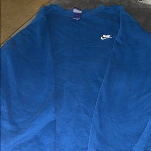 Royal blue men's nike crewneck